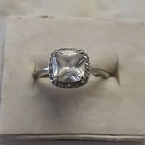 sterling/cubic zirconia ring